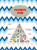 """Favourite food"" worksheet -  life skills"