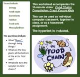 Food Chains Compilation: Crash Course Kids worksheet accom