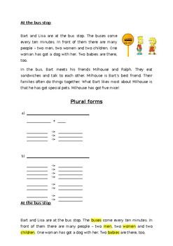 worksheet plural forms plus solution