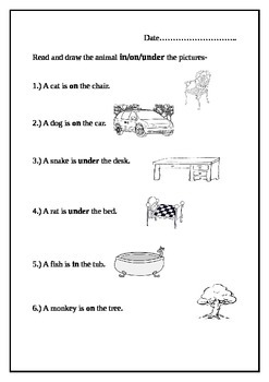 worksheets for in-on-under