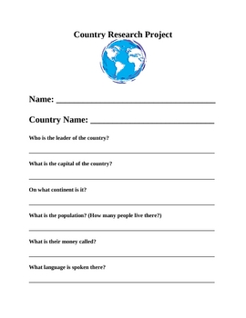 world countries project