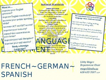 world language department brochure
