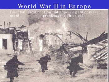 world war two begins in Europe
