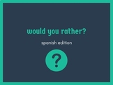 would you rather? spanish edition /