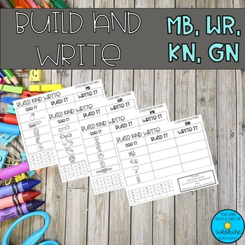 wr, gn, mb, kn Consonant Patterns Build and Write