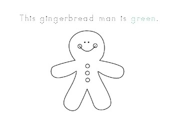 write and color gingerbread man book