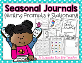 Seasonal Journals {Writing Prompts & Stationary}