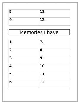 Writing Notebook/Folder Idea Lists