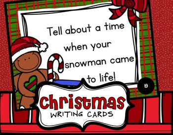 Christmas writing - December Writing Prompts