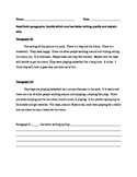 writing a descriptive paragraph- esp. for ESL
