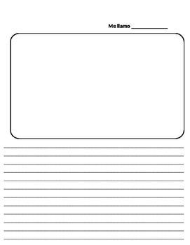 writing and drawing template by Senora Schneiders Spanish ...