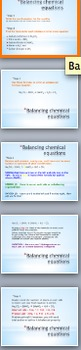 Writing chemical equations - Powerpoint unit of work with questions