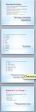 Writing chemical equations - Powerpoint unit of work with