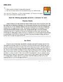 writing conclusion sentences- 5th grade HW