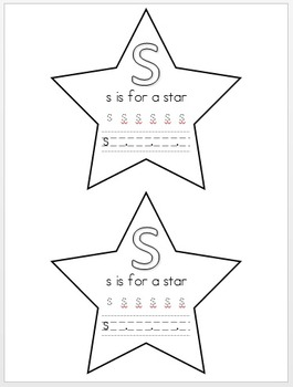 writing & crafts activity letter s