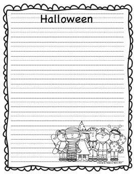 writing paper fall halloween