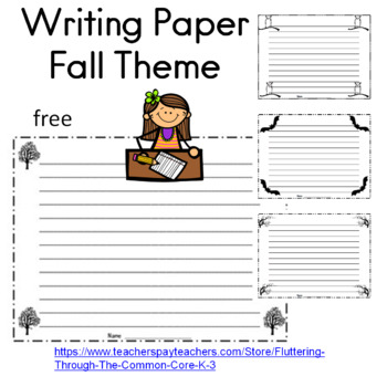 writing paper fall theme