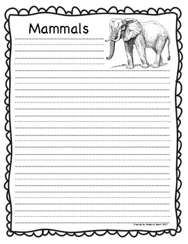 writing paper research report animal groups