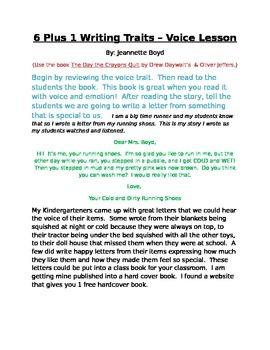 writing trait - voice lesson