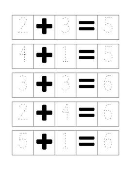 written addition strips