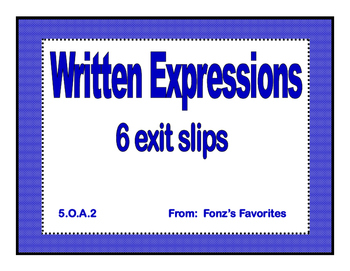 written expressions exit slips