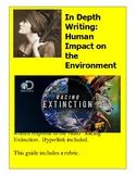 written response:Human Impact on the Environment Essay RACING EXTINCTION