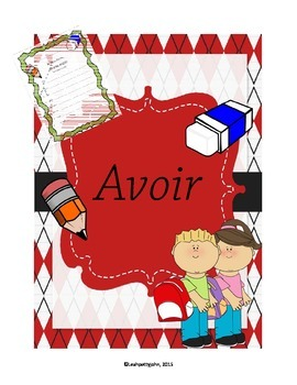 writting the french verb AVOIR (ecrire le verbe AVOIR)