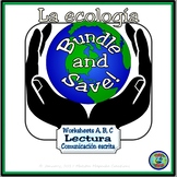 Ecology Activity Worksheets A, B, C Bundle - Hojas de trabajo A, B, C