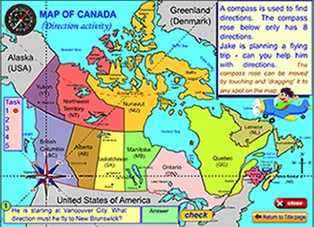 Map of Canada for the SmartBoard and Interactive Whiteboard TpT