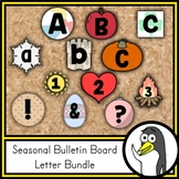 Bulletin Board Letters BUNDLE | Spring, Summer, Fall, and Winter