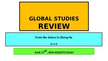 x POWERPOINT Global Studies Review New York State Regents Exam 6-17-2004