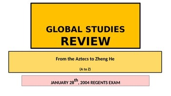 x POWERPOINT Global Studies Review New York State Regents Exam 1-28-2004