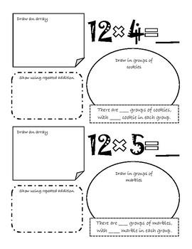 x12 Multiplication Booklet