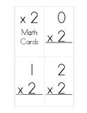 x2 Multiplication Flash Cards