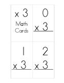 x3 Multiplication Flash Cards