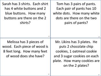 x3 Word Problem Task Cards