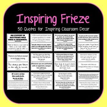 x35 Printable Quotes for Classroom Decoration-Motivational Quotes for Word Walls