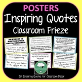x50 Printable Quotes for Classroom Decoration- Famous Quotes for Frieze, Display