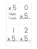 x5 Multiplication Flash Cards
