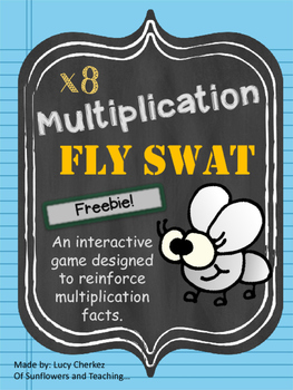 x8 Multiplication Fly Swat FREEBIE!
