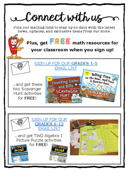 Connect with Us & Download FREE Math Activities