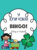 y Long Vowel Bingo - long e sound - [10 playing cards]