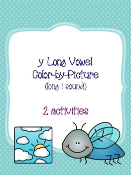 y Long Vowel Color-by-Picture [long i sound]