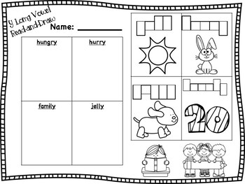 y Long Vowel Read-and-Draw [long e sound]