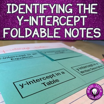 y-intercept foldable