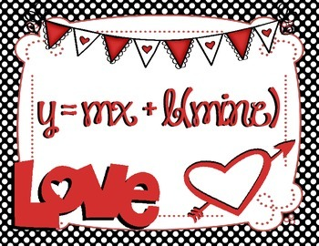 y = mx + b(mine) FREE Valentine's math poster