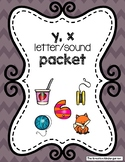 y, x Letter/Sound Packet