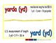yard/yarda meas 1-way blue/rojo