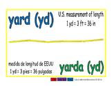 yard/yarda meas 1-way blue/verde