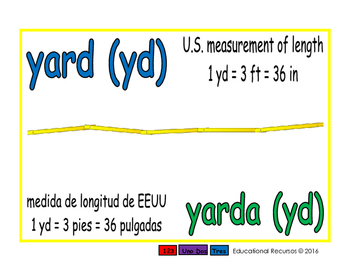 yard/yarda meas 1-way blue/verde